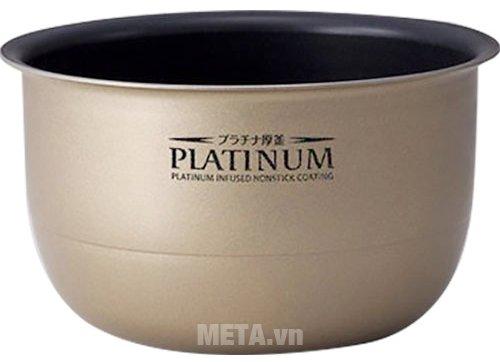Nồi cơm điện Zojirushi NP‐HRQ10-XT - 1 lít có lòng nồi dày được mạ bạch kim có độ bền cao