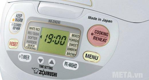 Nồi cơm điện Zojirushi NS-ZAQ10-WZ - 1 lít có bảng điều khiển điện tử dễ sử dụng