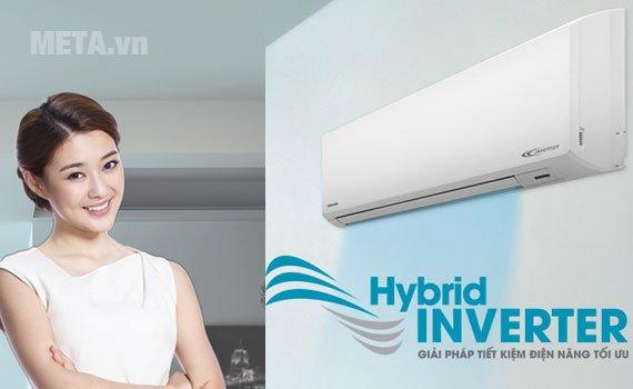 Điều hòa 2 chiều Inverter 8500 BTU Toshiba H10S3KV-V tiết kiệm điện năng tối ưu