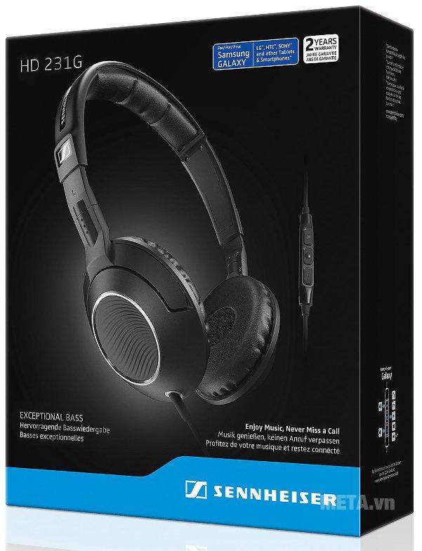 Hộp của tai nghe Sennheiser HD231G