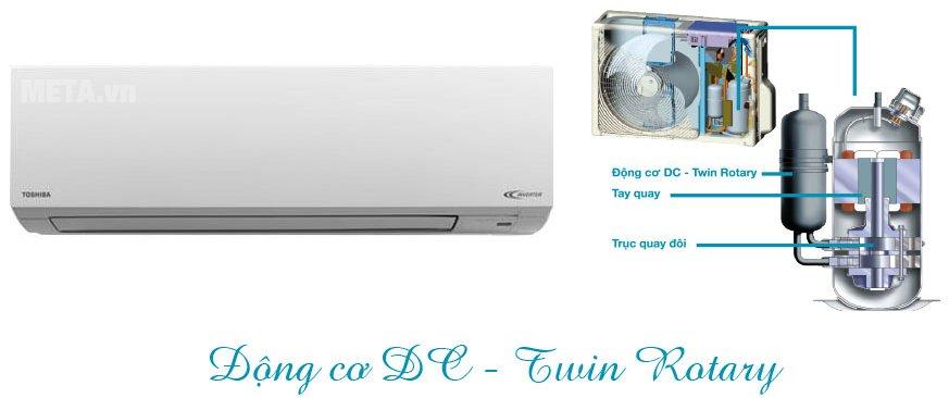 Điều hòa 2 chiều Inverter 22000 BTU Toshiba H22S3KV-V có 3 tùy chọn công suất