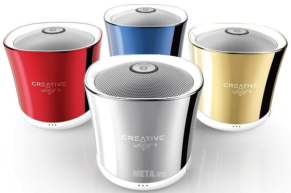 Loa Creative Woof 3 Bluetooth có nhiều màu sắc cho bạn lựa chọn