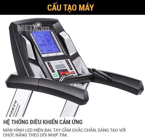 Máy chạy bộ Tiger Sport TG-1000 có hệ thống điều khiển cảm ứng