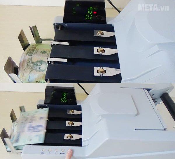 Máy đếm tiền ZJ-A10 màu trắng