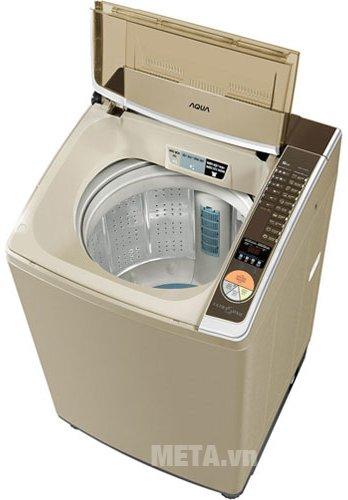 Máy giặt cửa trên 12.5kg AQUA AQW-U125ZT có lồng giặt bằng thép không gỉ