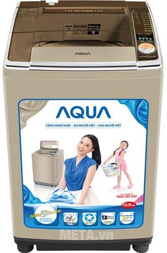 Máy giặt cửa trên 12.5kg AQUA AQW-U125ZT thiết kế hiện đại, dễ sử dụng