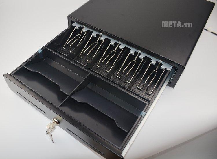 Ngăn kéo đựng tiền Antech RT 410 có thể mở bằng khóa hoặc mở bằng lệnh