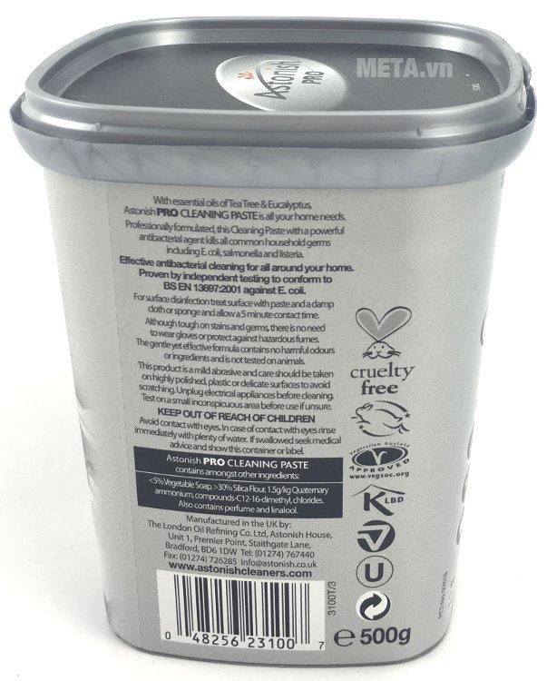 Chất tẩy rửa mặt bếp chuyên nghiệp Astonish 500g là sản phẩm chất tẩy rửa đa năng