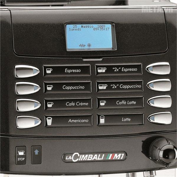 Máy pha cà phê LaCimbali M1 MilkPS  có các nút điều chỉnh tiện lợi