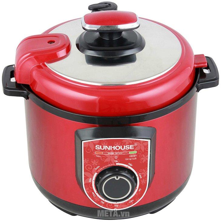 Nồi áp suất điện đa năng SH1550 có nhiều chức năng nấu nướng khác nhau