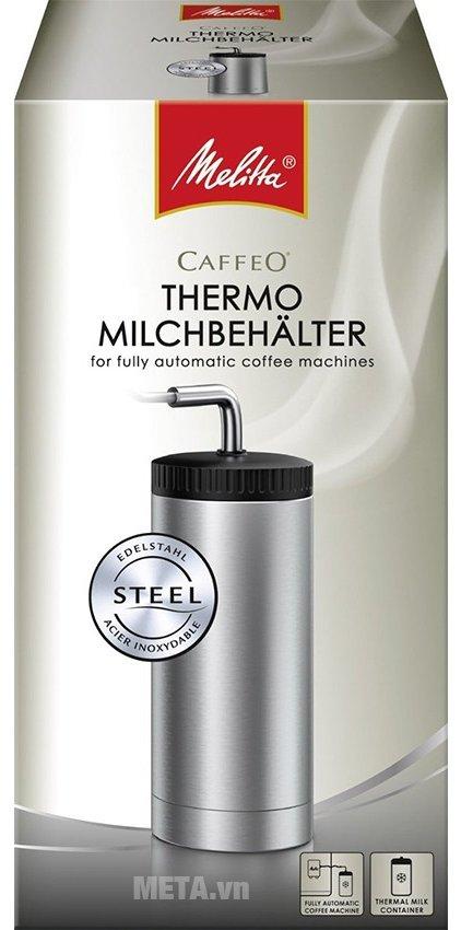 Hình ảnh bao bì bình đựng sữa Melitta Caffeo Thermal Milk được thiết kế tiện lợi