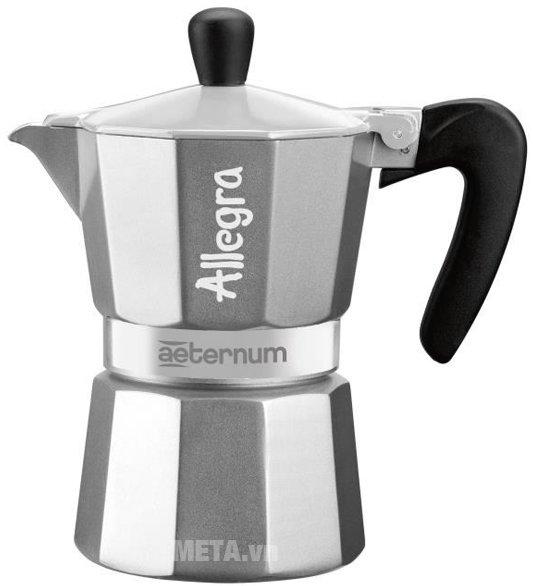 Ấm pha cà phê Aeternum Allegra 3Tz Silver BCM 6015 có kiểu dáng nhỏ gọn