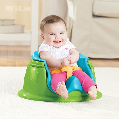 Ghế tập ngồi 3 giai đoạn có thanh đồ chơi (Xanh) SM13290 an toàn cho bé