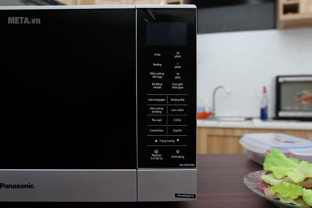 Lò vi sóng Panasonic NN-GF574MYUE - 27 lít có bảng điều khiển tiện lợi