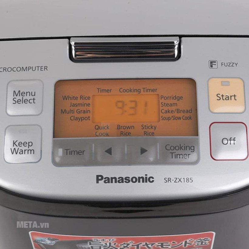 Nồi cơm điện tử Panasonic SR-ZX185KRAM - 1.8 lít với bảng điều khiển tiện lợi