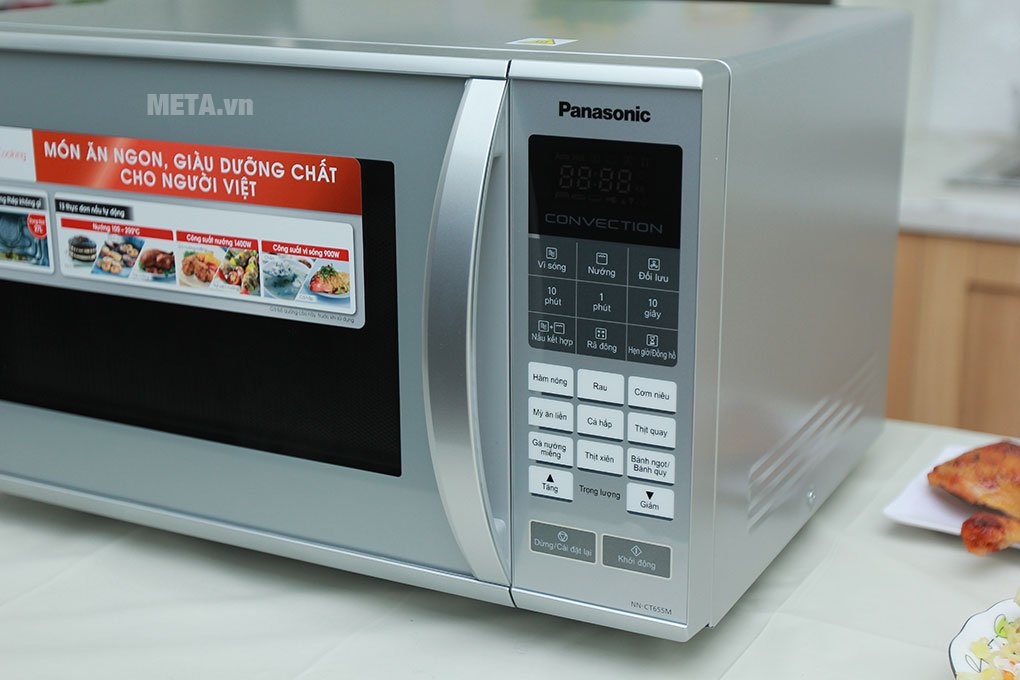 Lò vi sóng điện tử Panasonic NN-CT655MYUE - 27 lít có nhiều chương trình nấu nướng