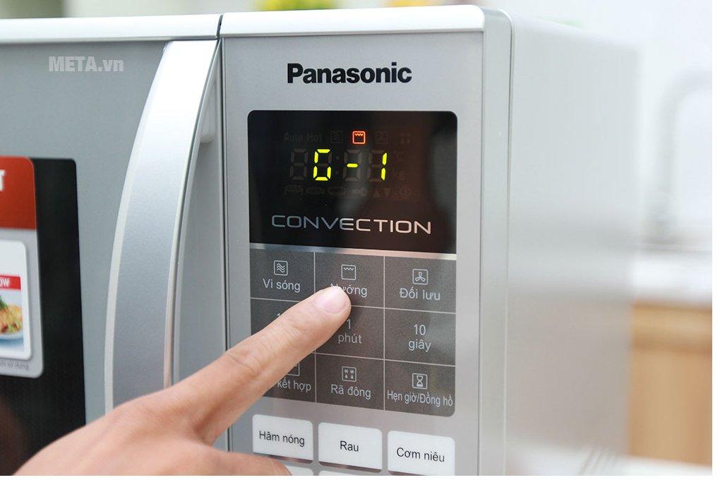 Lò vi sóng điện tử Panasonic NN-CT655MYUE - 27 lít điều chỉnh dễ dàng với bảng điều khiển