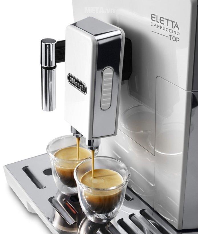 Máy pha cà phê tự động DeLonghi ECAM 45.760.W giúp pha cà phê nhanh chóng