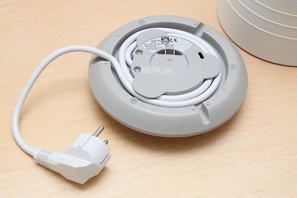 Ấm siêu tốc Philips HD9334 - 1.5 lít với dây nguồn dưới đáy đảm bảo an toàn