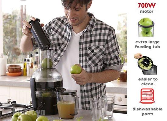 Máy ép trái cây Philips HR1855 dễ sử dụng