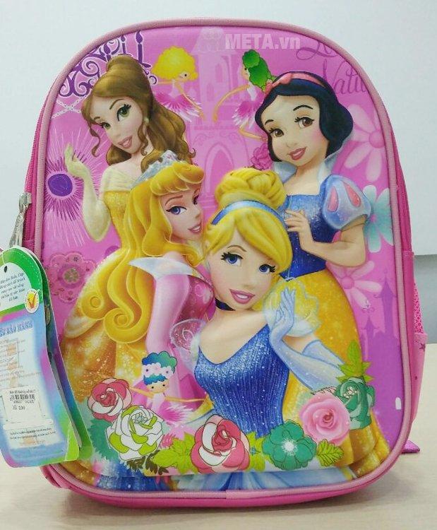 Ba lô học sinh Hami BL230 họa tiết công chúa, thích hợp với các bé gái