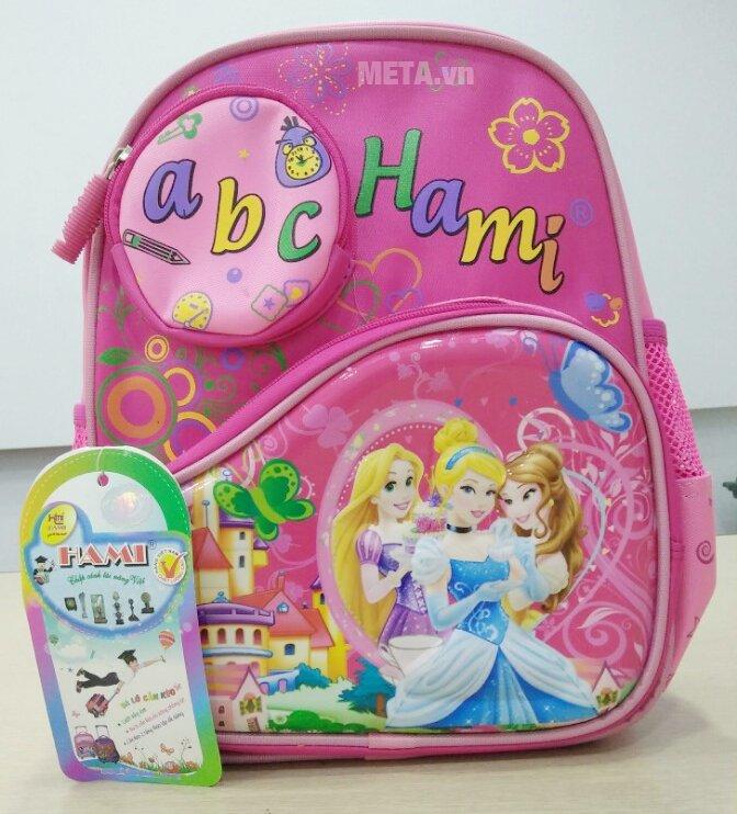 Ba lô học sinh Hami BL255 màu htoồng thích hợp với bé gái