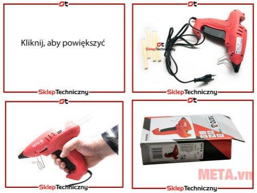 Máy phun keo dùng điện Yato YT-82401 có thiết kế chắc chắn, đảm bảo an toàn cho người dùng