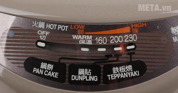 Nồi lẩu điện Tiger CPK-E13S có nhiều chức năng nấu khác nhau