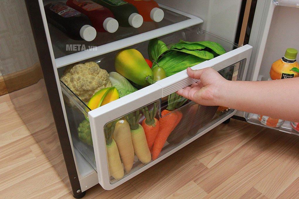 Tủ lạnh 2 cánh 395 lít Hitachi R-VG470PGV3 với ngăn rau củ linh hoạt