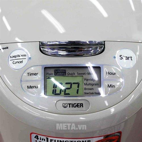 Nồi cơm  điện Tiger JAX-R18W - 1.8 lít có bảng điều khiển dễ dàng