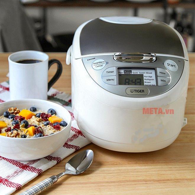 Nồi cơm điện tử Tiger JAX-S18W - 1.8 lít giúp cơm ngon hơn