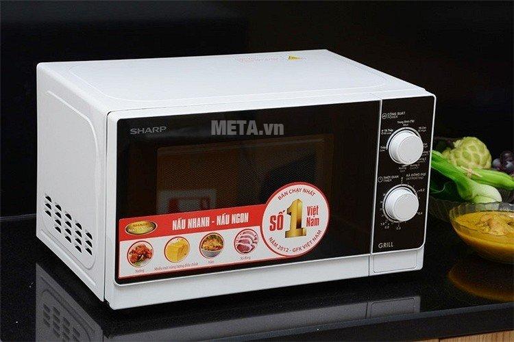 Hình ảnh lò vi sóng cơ có nướng Sharp R-G221VN-W - 20 lít