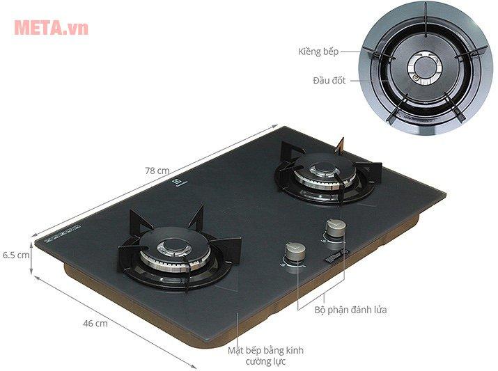 Cấu tạo bếp âm Electrolux EGT7627EG
