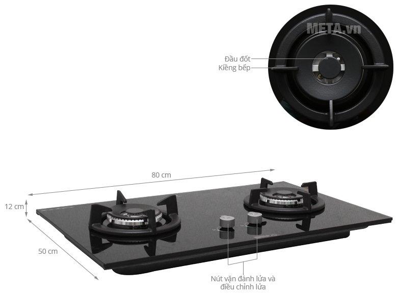 Cấu tạo bếp âm Electrolux EGT8028CK