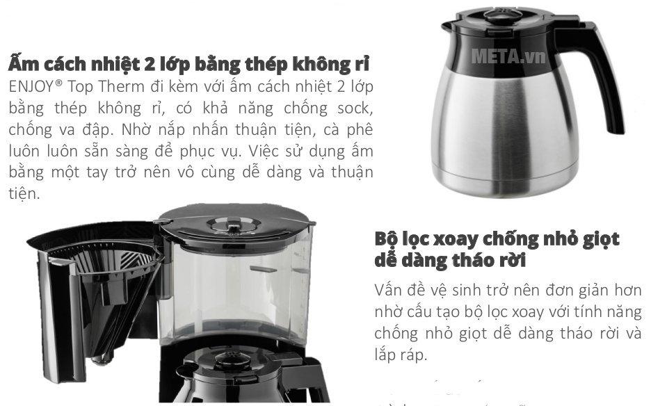Máy pha cà phê giấy lọc Melitta Enjoy TopTherm có chất liệu cao cấp