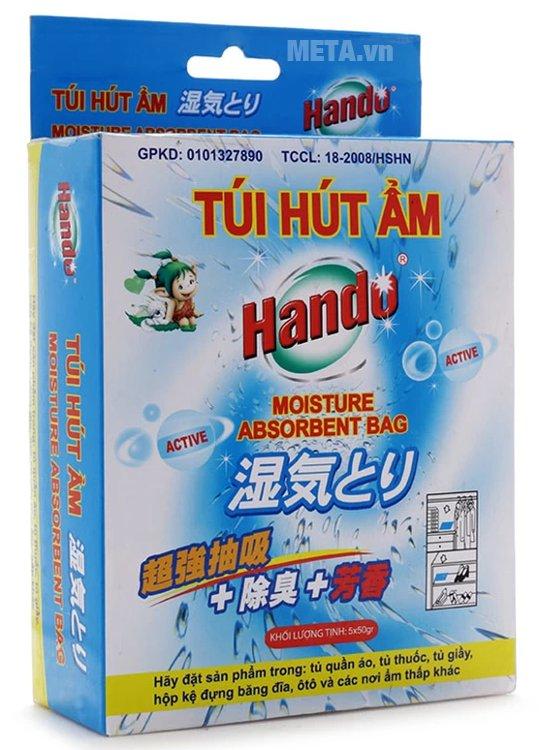 Hộp 5 túi hút ẩm Hando 5 x 50g giúp khử mùi ẩm mốc hiệu quả