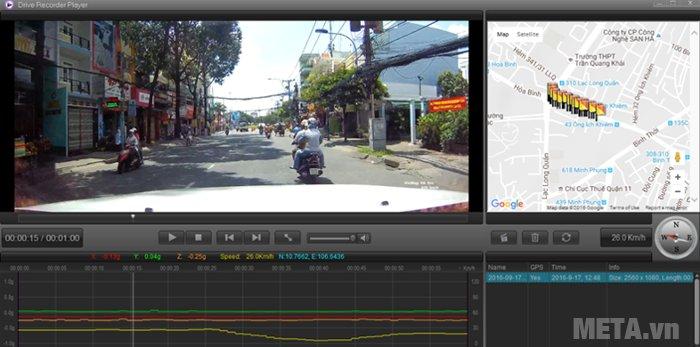 Camera hành trình VietMap K9 Pro có khả năng ghi hình sắc nét