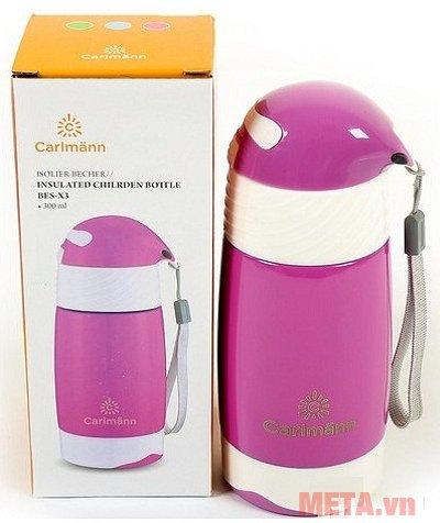 Bình giữ nhiệt em bé Carlmann 300ml BES-X3 được làm từ chất liệu inox, an toàn cho sức khỏe