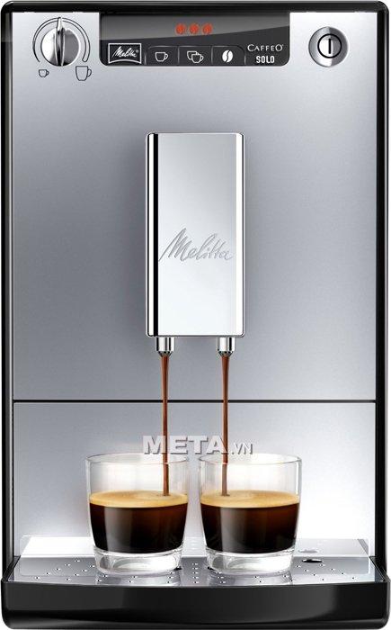 Máy pha cà phê Melitta Caffeo Solo có thiết kế tiện lợi