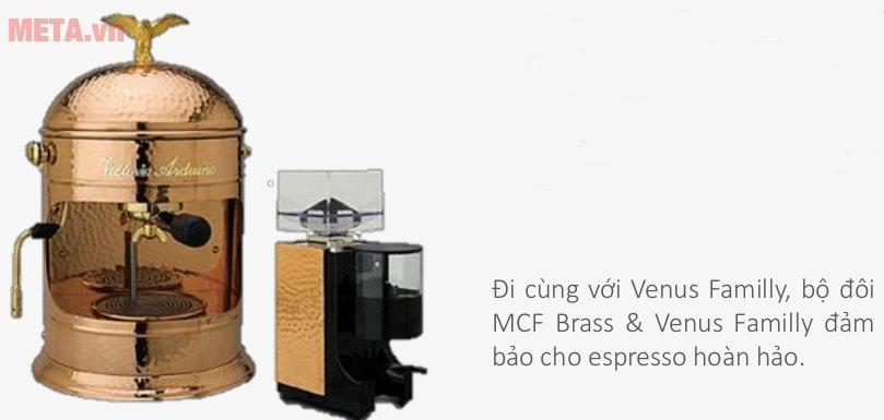 Máy xay cà phê Victoria Arduino MCF Brass có Venus Family đi kèm
