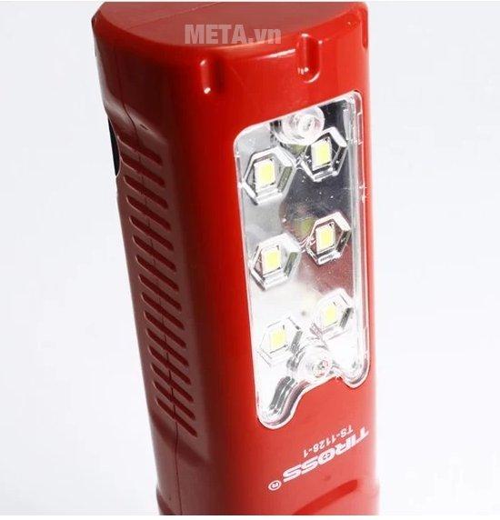 Đèn pin sạc điện Tiross TS-1128-1 với 6 bóng trên thân đèn