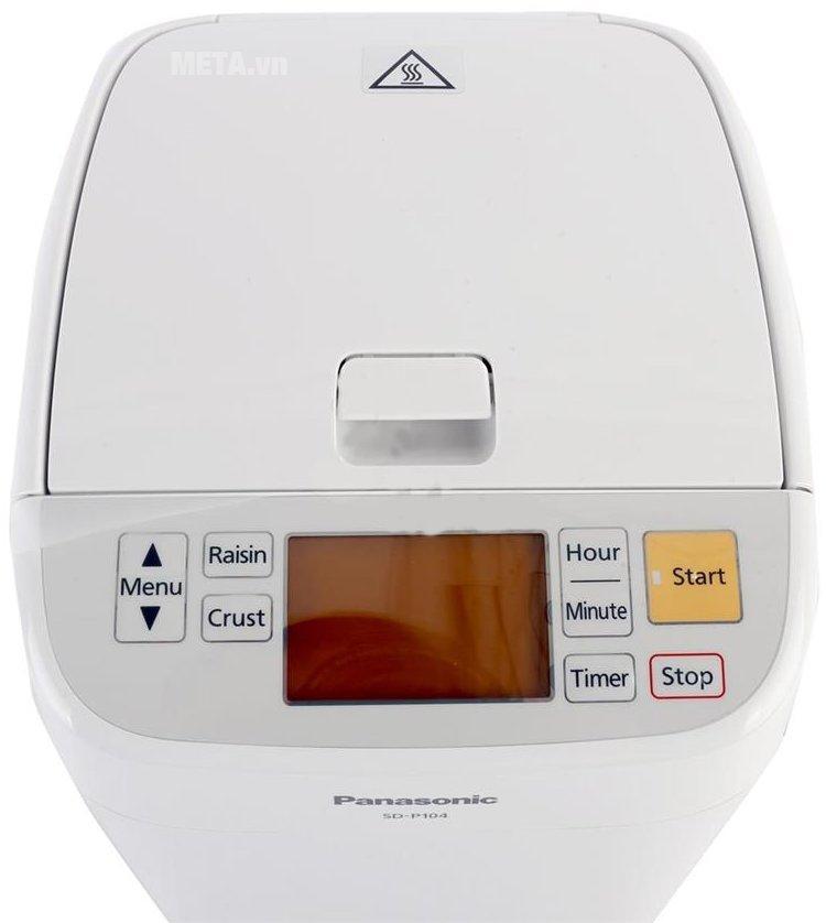 Máy làm bánh mì Panasonic SD-P104WRA với bảng điều khiển