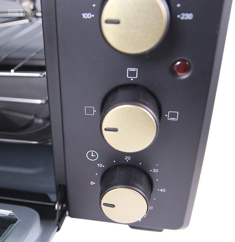 Lò nướng 48 lít Sunhouse SHD4248 dễ dàng sử dụng với nút điều khiển