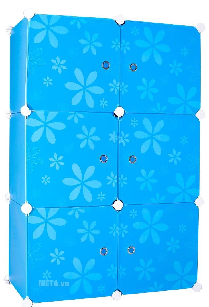 Tủ nhựa lắp ghép 6 ngăn Thanh Long TN01 có thiết kế đẹp mắt
