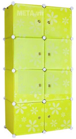 Tủ nhựa lắp ghép 8 ngăn Thanh Long TN02 màu xanh nõn chuối