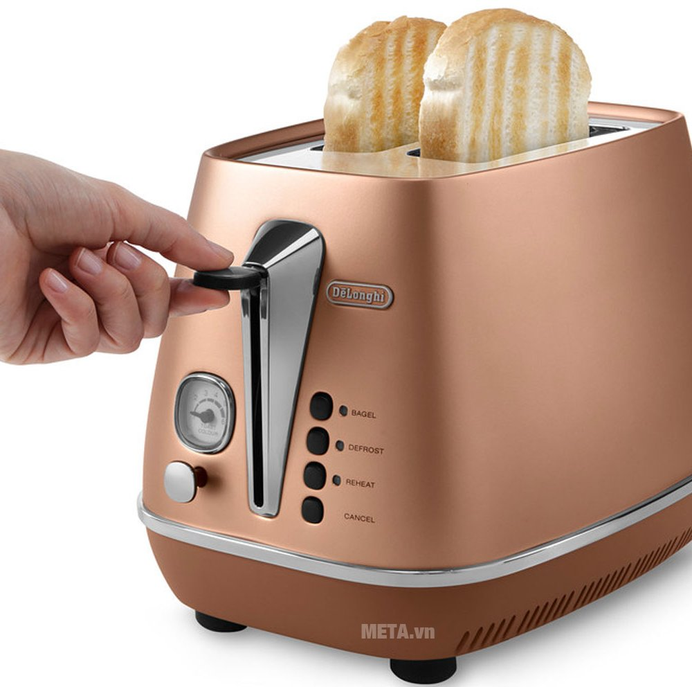 Máy nướng bánh mì Distina CTI 2103.CP giúp nướng bánh nhanh chóng