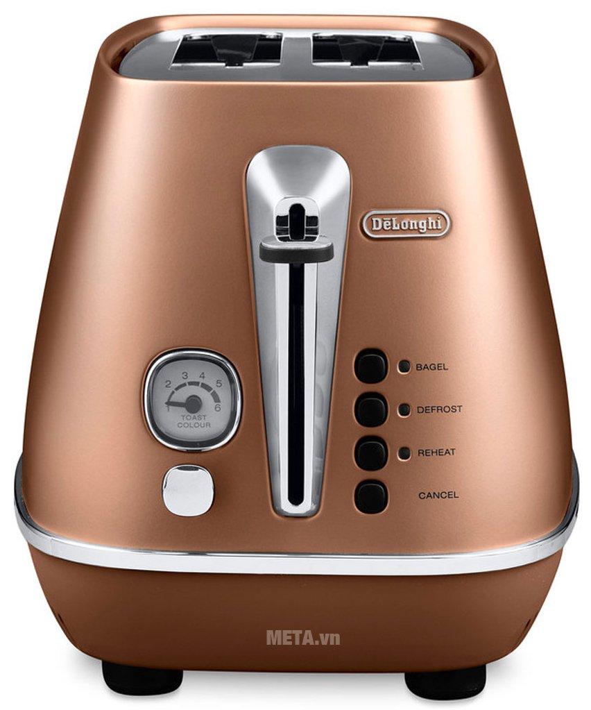Máy nướng bánh mì Distina CTI 2103.CP có thiết kế tiện lợi