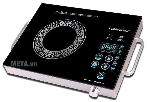 Bếp hồng ngoại cảm ứng Sunhouse SHD6017 có thiết kế tiện lợi