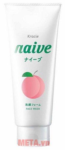 Sữa rửa mặt lá đào Naive 130g chứa các thành phần tự nhiên