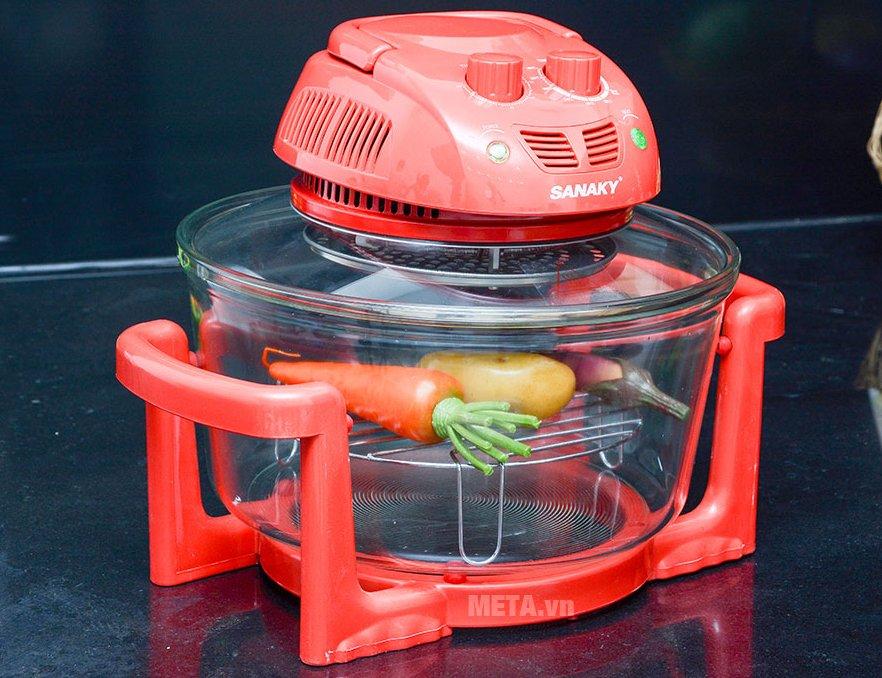 Lò nướng thủy tinh Sanaky VH 158T/D màu đỏ